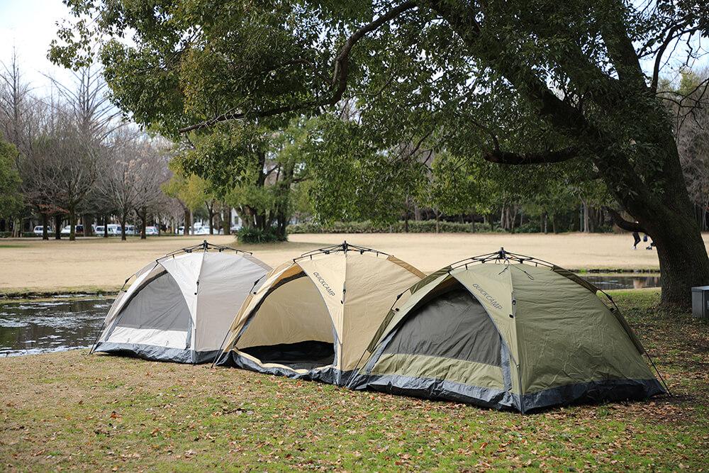 おうちキャンプも楽しめる!新登場のワンタッチテント