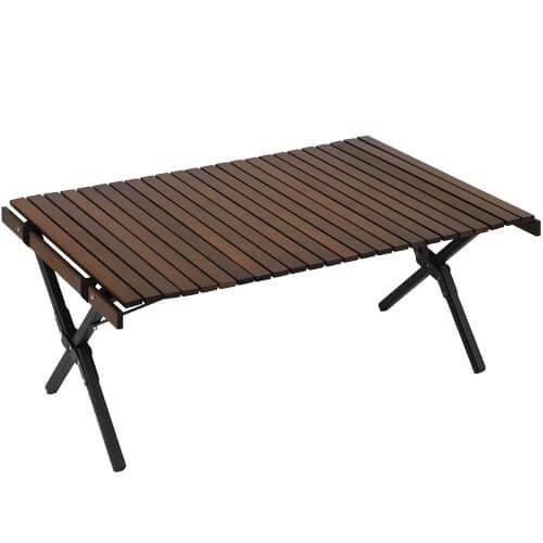 X脚 ウッドロールローテーブル 90×60cm